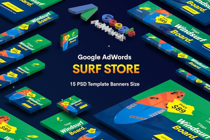 Thumbnail for Surf Board Store Banners Ad v.02