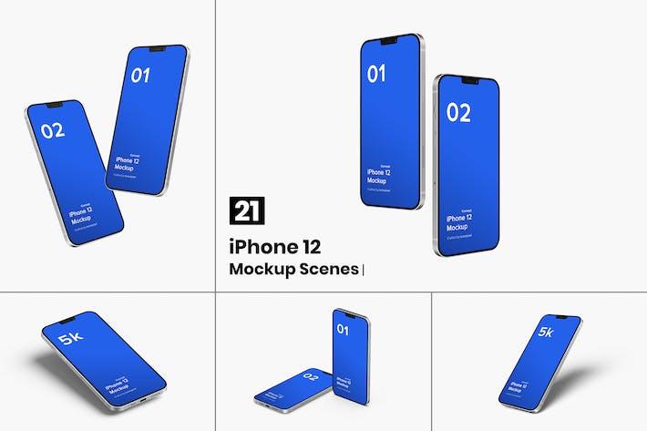 Thumbnail for iPhone 12 макет (концепт) - 21 Мокапы сцены