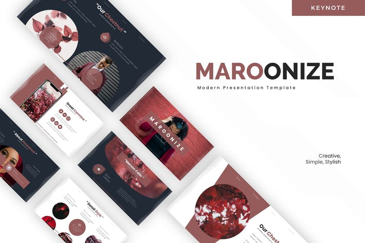 Thumbnail for Maroonize - Keynote Template