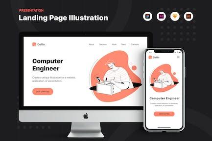 Computer Hardware Engineer - Banner & Landing Page