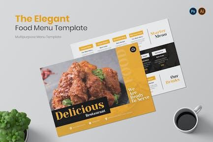 Elegant Menu Restaurant Menu