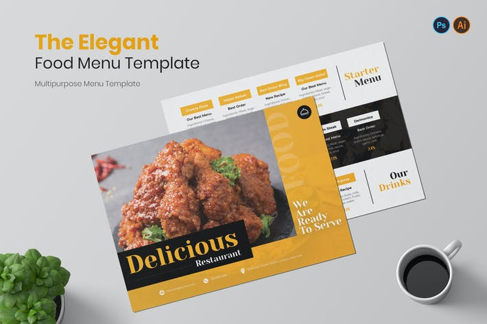 Thumbnail for Menu élégant Restaurant Menu