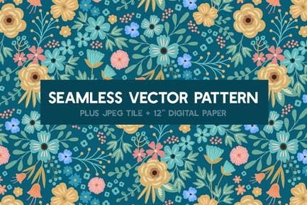 Bold New Summer Seamless Vector Pattern