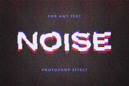 VHS Distortion Text Effect