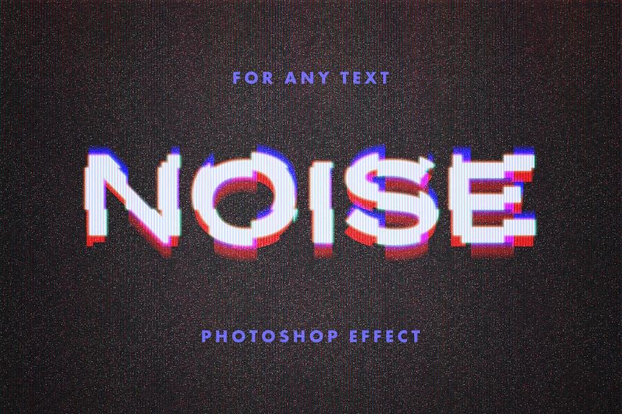 Текстовый эффект искажения VHS