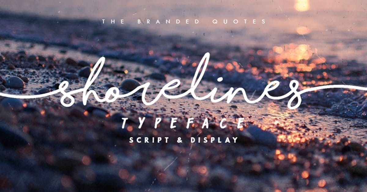 Download Shorelines Typeface by TheBrandedQuotes