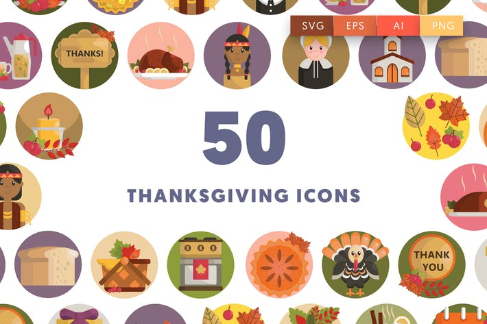 Thumbnail for 50 Thanksgiving Icons