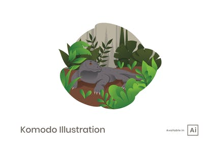 Komodo Illustration