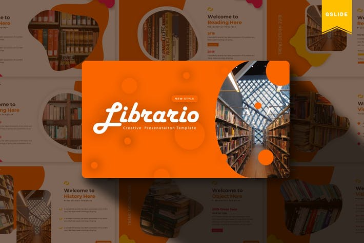 Thumbnail for Librario | Google Slides Template