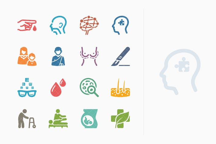 Thumbnail for Colored Medical Specialties Icons Set 2 - Sympa