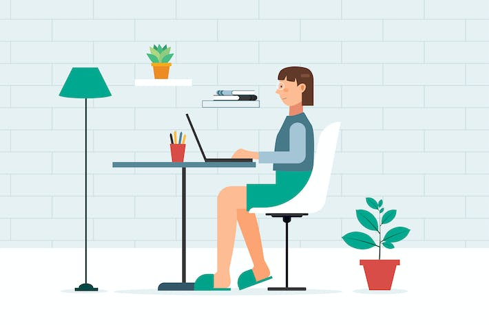 Cover Image For A women working at home