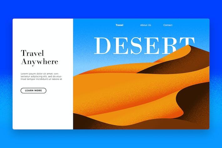 Thumbnail for Desert Travel - Banner & Landing Page