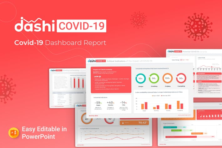 Thumbnail for Dashi COVID-19 - Dashboard Template