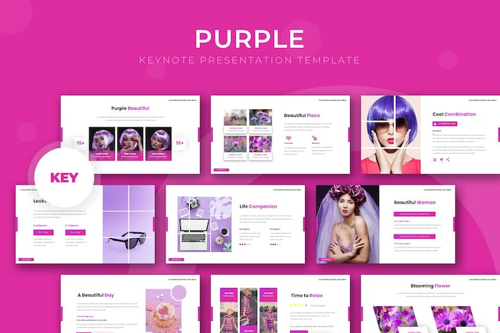 Thumbnail for Purple Beautiful - Keynote Template