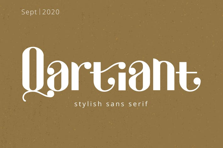 Thumbnail for Qartiant - Stylish Sans Serif