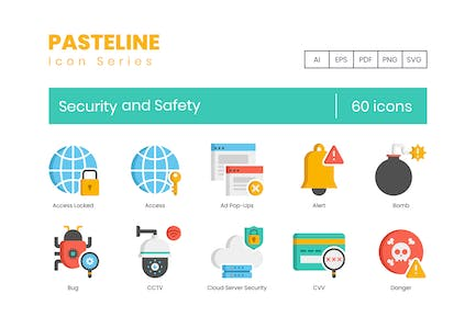 60 Security and Safety Flat Icons