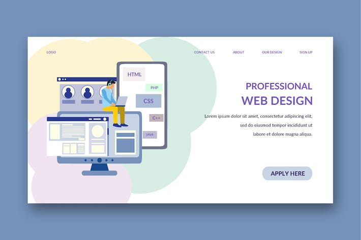 hosting landing page template