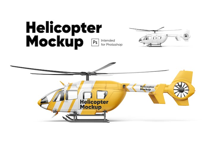 Thumbnail for Helicopter Mockup