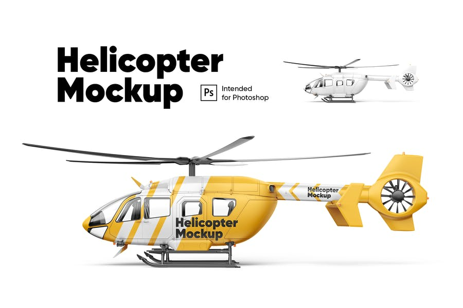 Helicopter Mockup
