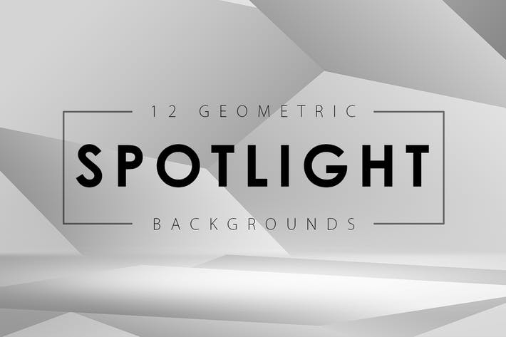 Cover Image For 12 Geometric Spotlight Backgrounds