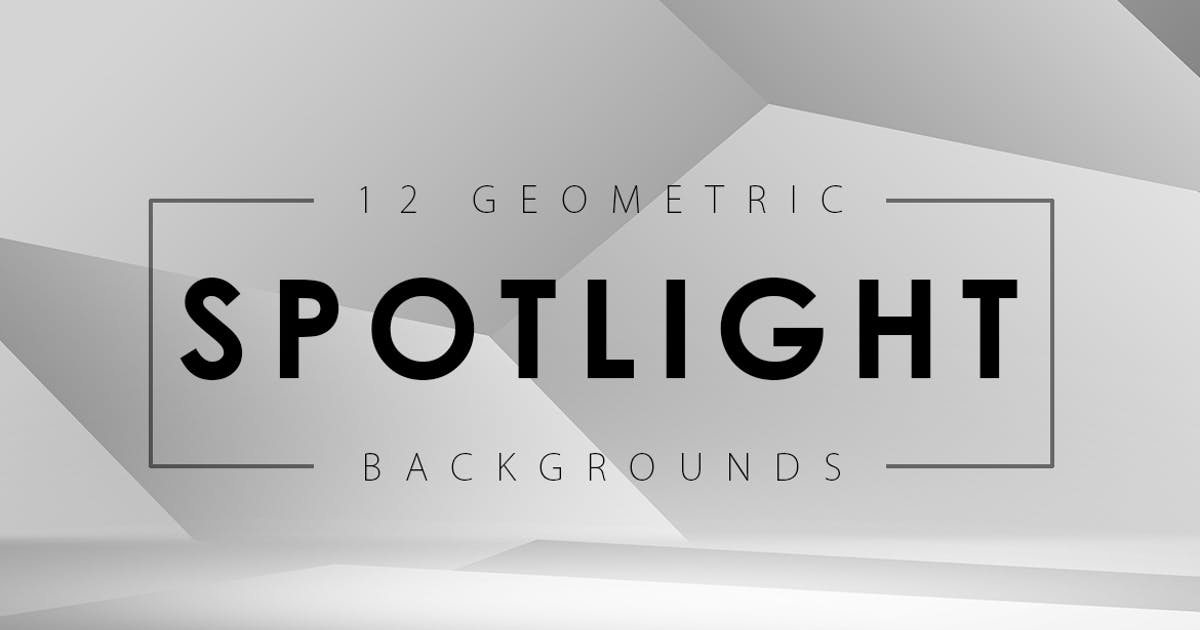 Download 12 Geometric Spotlight Backgrounds by M-e-f