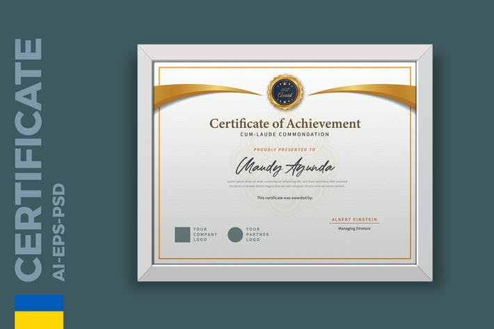 Classic Academy Certificate / Diploma Template