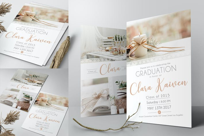 Thumbnail for Lace Graduation Invitation