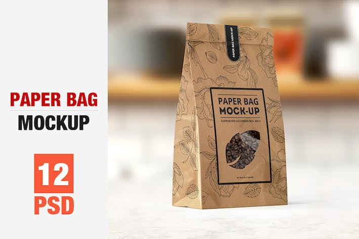 Thumbnail for Paper Bag Mock-up