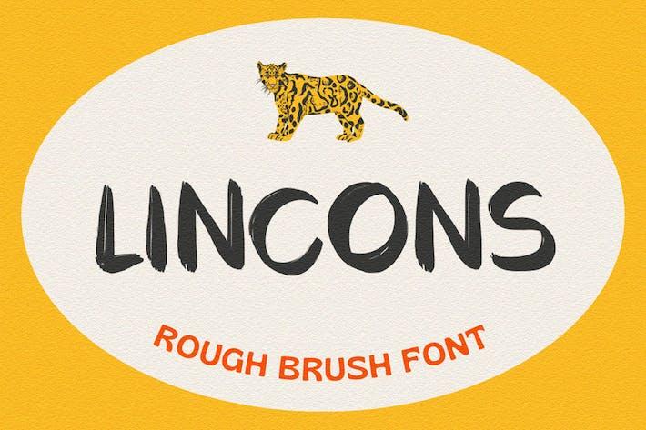 Lincons - Fuente retro áspera