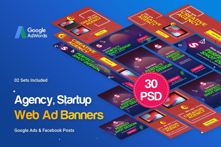 Thumbnail for Creative Agency, Startup Banners Ad