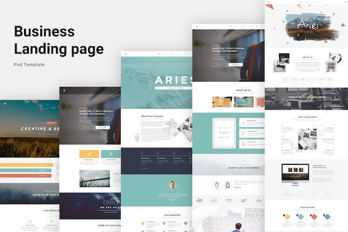 Thumbnail for Aries - Multipurpose Creative PSD Template