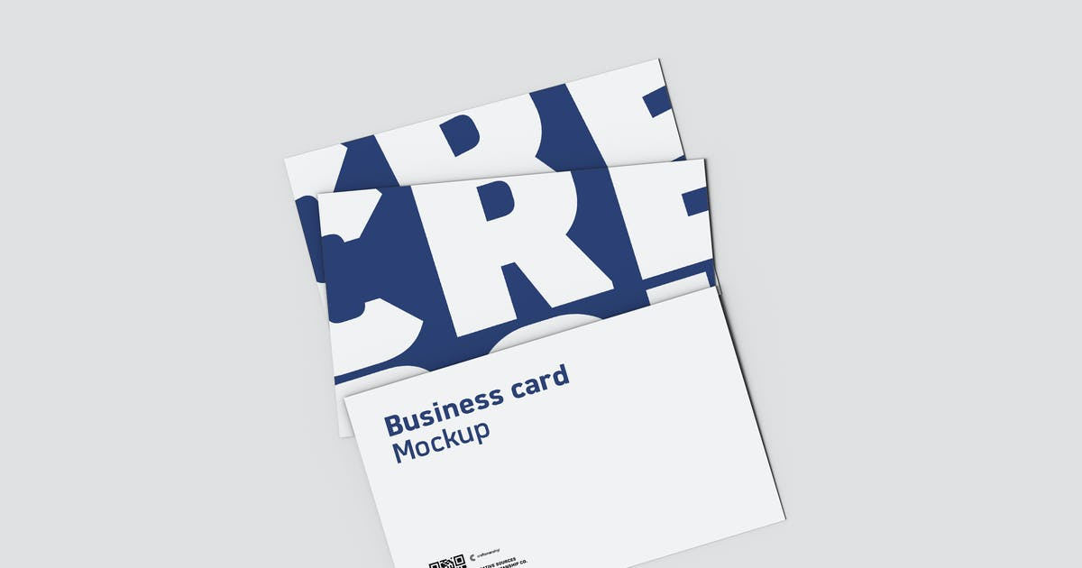 Download Top View Tripple Business Card 8.9x5.6cm by crftsco