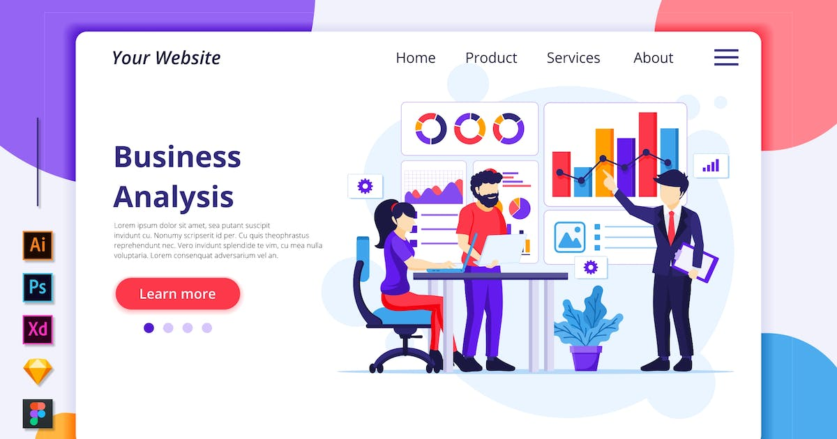 Download Business Analysis Illustration - Agnytemp by GranzCreative