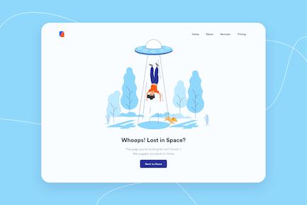 404 Page Desktop Illustration