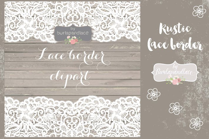 Thumbnail for Rustic lace border vector