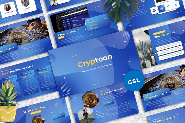 Cryptoon - Cryptocurrency Googleslide Templates