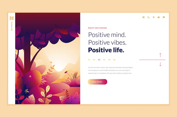 Thumbnail for Beauty Web Page Design Template