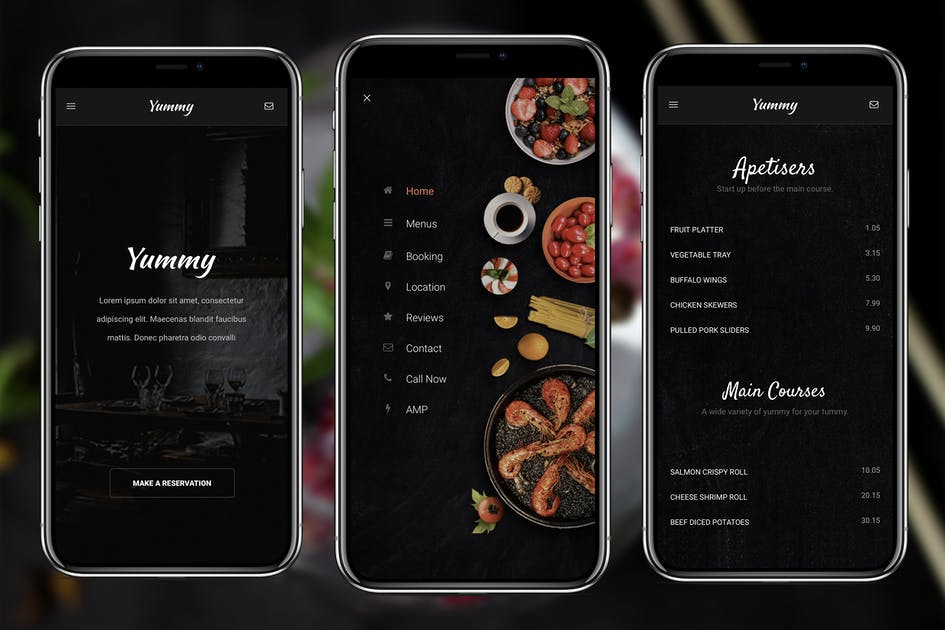 Download AMP Yummy   Google AMP Mobile Template by Enabled