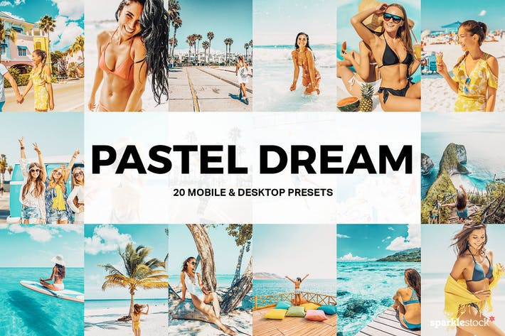 Thumbnail for 20 Pastel Dream Lightroom Presets and LUTs