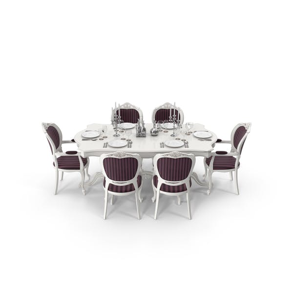 Classical Dining Table Set