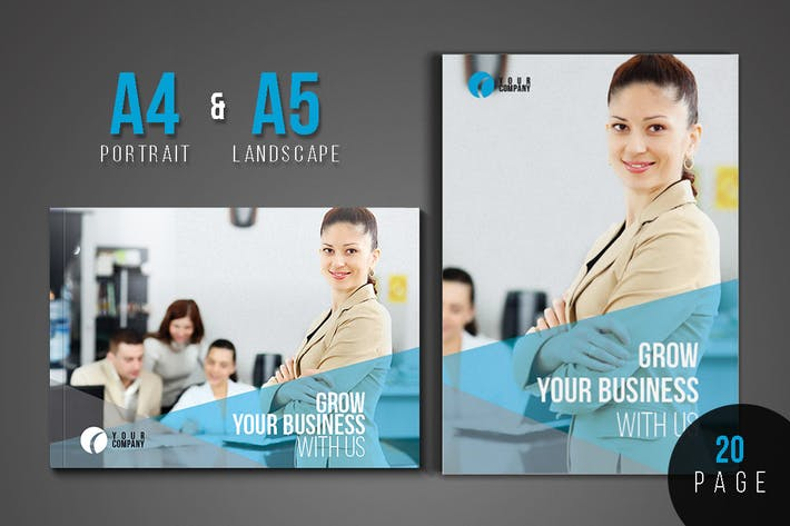 Thumbnail for Corportate & Business Brochure Template Design