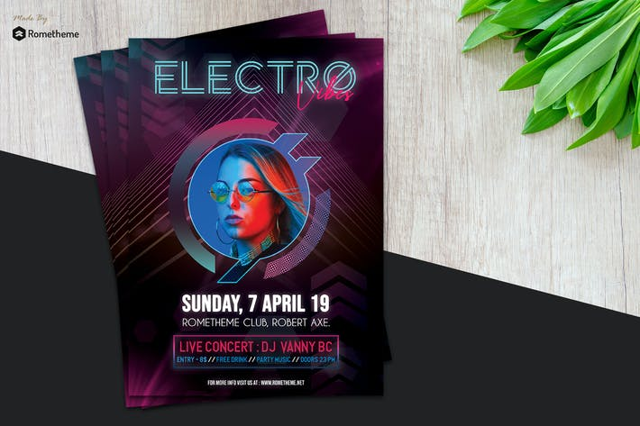 Thumbnail for Electro Music Flyer vol.01