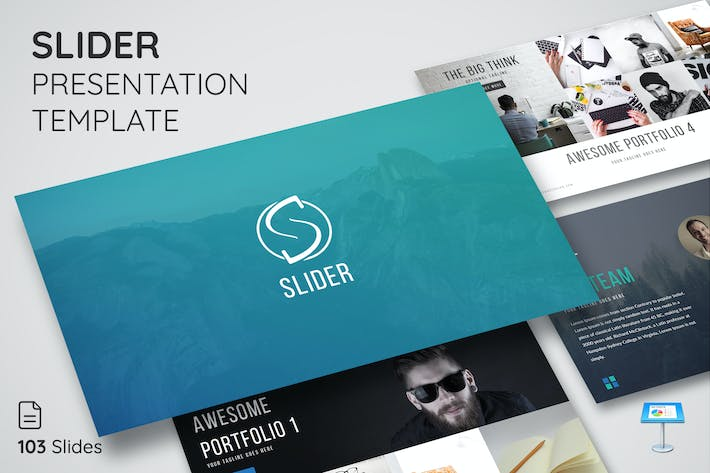 Thumbnail for Slider - Keynote Presentation Template