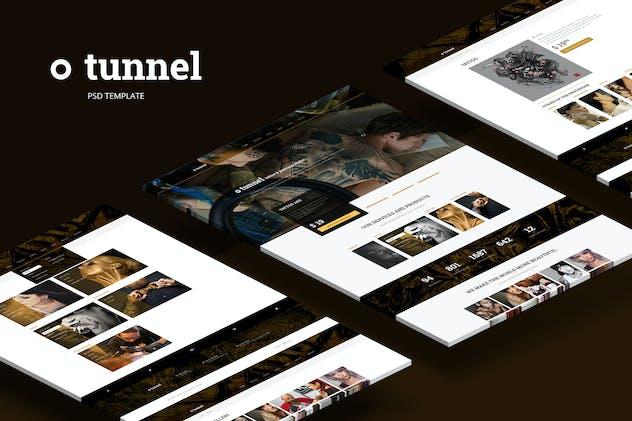 Tunnel — Modern Tattoo and Piercing Studio Theme