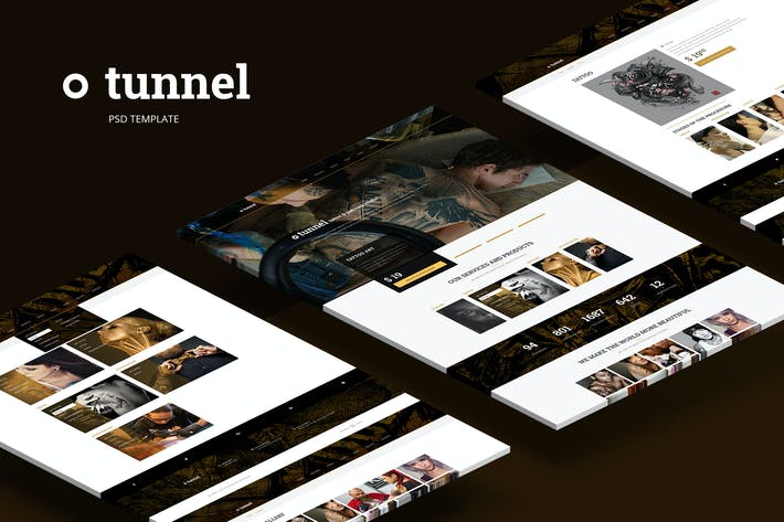 Tunnel — Modern Tattoo and Piercing Studio Theme