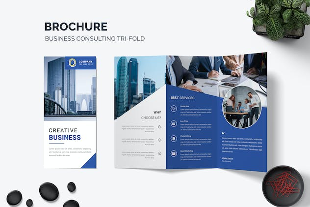 Corporate Trifold Brochure Business