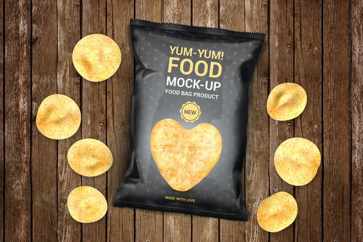 Thumbnail for Food Bag Product Mock-Ups