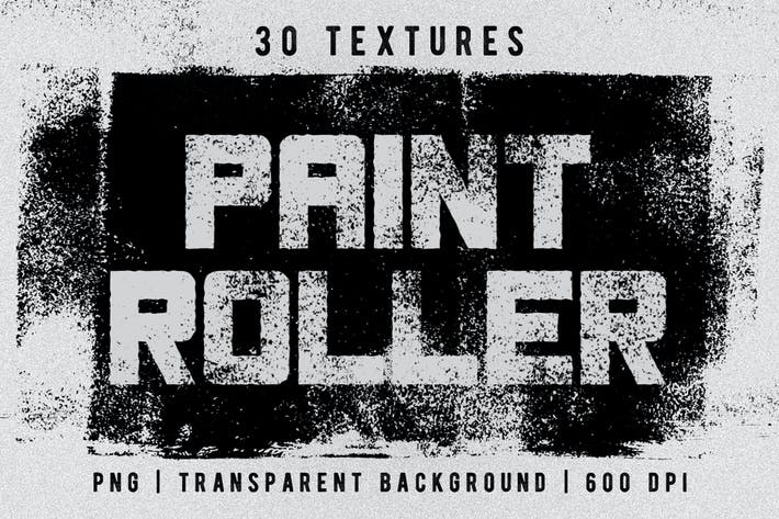Thumbnail for Set of 30 Paint Roller Textures
