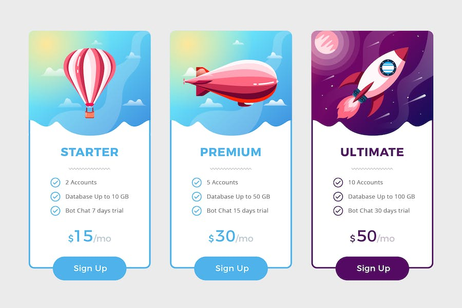 Pricing Table Vol.3