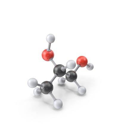 Molécula de propilenglicol